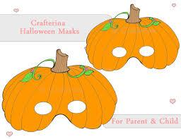 pumpkin mask pumpkin pdf mask printable diy craft kit party