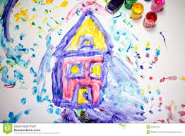 Painting House by Child Painting Of A House Royalty Free Stock Photo Image 11801255