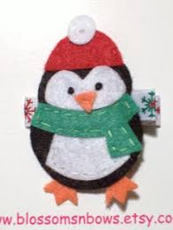 Felt Penguin Christmas Ornament Patterns - felt owl decorations set of 3 christmas pinterest owl