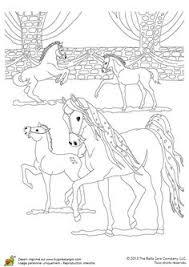 coloriage chevaux amoureux dans bella sara bricolage automne