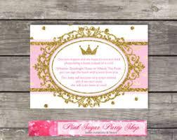 printable thank you cards princess pink princess card etsy