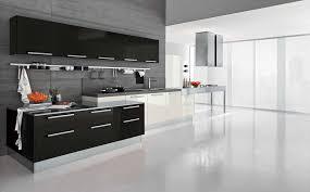 White Floor L Kitchen Modern L Shape White Kitchen Cabinets Feat Wooden Brown