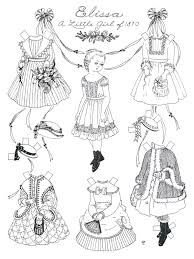 paper dolls to cut out and color print these black u0026 white