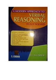 rs aggarwal verbal reasoning book
