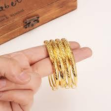 child bangle bracelet images 2pcs 2 4inche cute girls women gold bangle bracelets ethiopian jpg