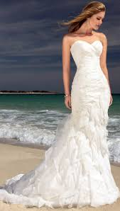 exquisite ivory wedding dresses as beachy wedding dresses in summer