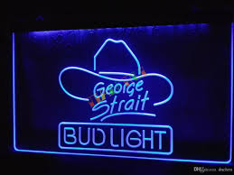 Neon Lights Home Decor 2017 Le116 B Bud Light George Strait Bar Pub Neon Light Sign Home