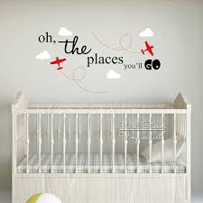 the places you will go wall sticker baby nursery quotes wall decal the places you will go wall sticker baby nursery quotes wall decal children room airplane wall
