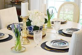 Summer Dining Room In Blue White  Magnolia Lane - Blue and white dining room