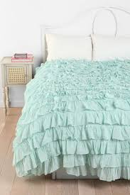 Ruffle Bed Set Fascinating Waterfall Ruffle Bedspread 14 For Your Soft Duvet