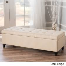 Ottoman Bench Mission Tufted Fabric Storage Ottoman Bench By Christopher