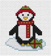 penguin card cross stitch kit