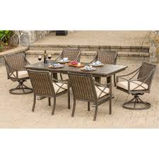 Agio Manhattan davenport collection 7 piece outdoor patio dining set rc willey