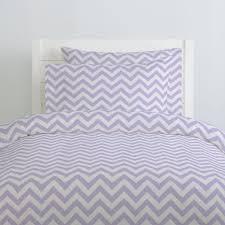 Duvet Cover Lavender Lilac And White Zig Zag Duvet Cover Carousel Designs