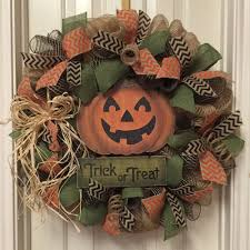halloween burlap wreath fall welcome wreath pumpkin wreath