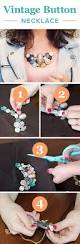 best 25 diy necklace with buttons ideas on pinterest button