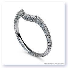 18k white gold wedding band silverstein imagines engraved thin 18k white gold diamond
