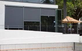 Blackout Roller Blinds With Side Channels Outdoor Complete Blockout Straight Drop Roller Awnings T4000