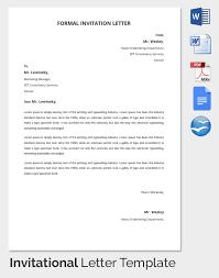 formal invitation letters formal invitation letter format sample