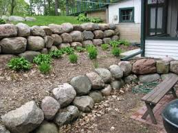 retaining boulder wall pictures