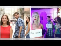 Jealous Girlfriend Meme - this jealous girlfriend meme costume just won halloween youtube