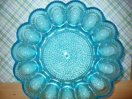 glass egg plate vintage depression glass deviled egg plate tray by melaniesfolly