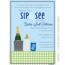 boozy sip and see invitation by kateogroup sipandsee newbaby