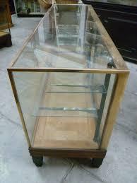 Antique Brass Display Cabinet Antique Brass Bound Shop Display Counter Antiques Atlas