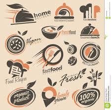 restaurant logo design collection stock vector image 45395999