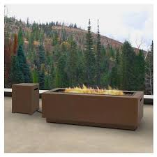 rectangle propane fire pit table real flame lanesboro rectangle propane fire pit target