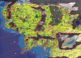 Map Of Mordor Entire Middle Earth Map Map Middle Earth From Lord The Rings