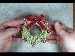 wreath origami ornament