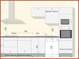 cuisine taille taille standard meuble cuisine a quelle hauteur les meubles