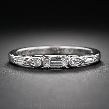 deco wedding band deco diamond wedding band