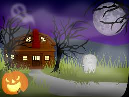 clipart halloween haunted house fog