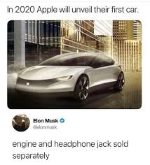 Project Car Memes - in 2020 apple will unveil their first car apple apple electric