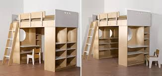 Modern Bunk Bed With Desk Loft Bed With Desk And Storage Cabinets â Dumbo Loft Bed From