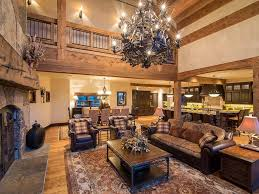 log and stone colorado ski chalet with great room u2014 sublipalawan style