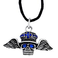 s day necklace with birthstone charms cool men s pirate wing september birthstone sapphire