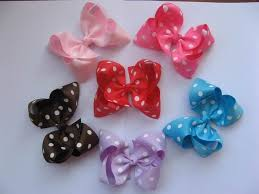 custom hair bows baby dotted hair bows grosgrain ribbon custom made
