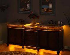 silkroad exclusive 84 inch travertine double vanity with led