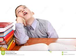Kid At Desk by Annoyed Pupil Stock Image Image 36222361