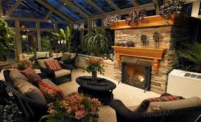 garden ideas garden room design with fireplace in the wall and