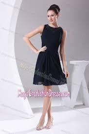 simple graduation dresses navy blue scoop knee length middle school graduation dresses in filer