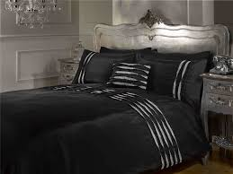 luxury black king size diamante detail duvet bedding bed