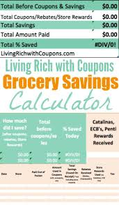 Cost Of Living Spreadsheet Free Grocery Savings Calculator From Lrwcliving Rich With Coupons