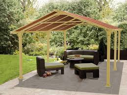 Backyard Canopy Covers Exterior Back Yard Patio With Garden Landscaping On Grey And