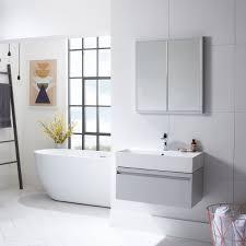tavistock nook double door led mirror cabinet 650 x 700 with