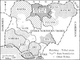Nigeria State Map by Map Of Ethnic Groups In Nigeria As It Revolves From 1901 2015