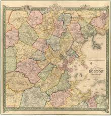 Map Of Boston And Surrounding Area by Old Maps Of Boston